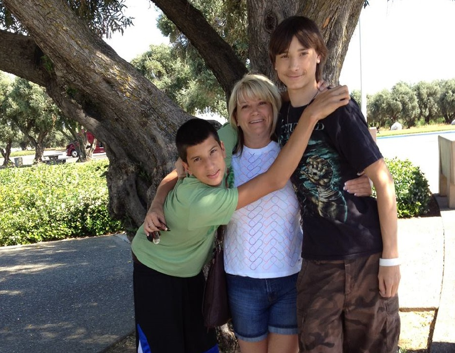 Carol Naquin and sons