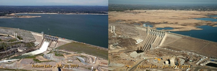California drought images lake