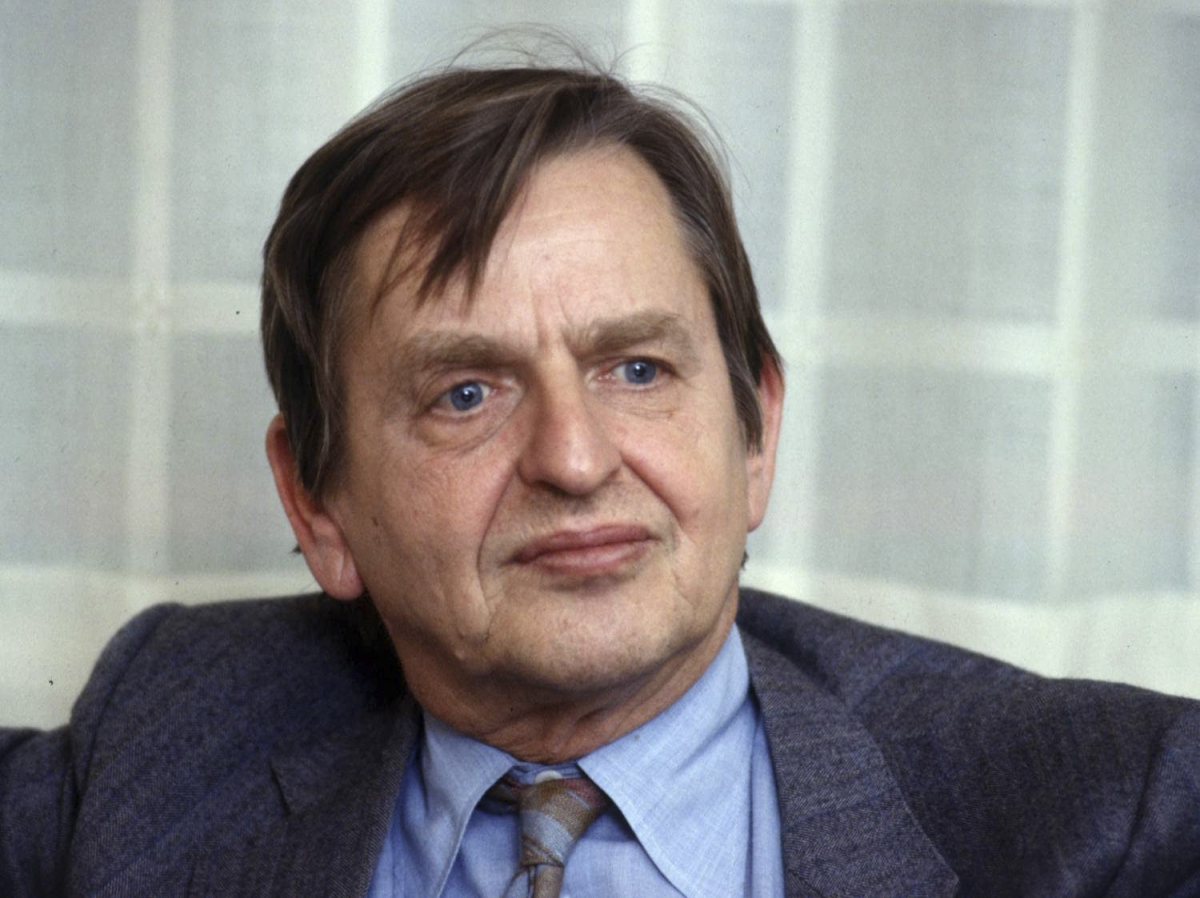 A 1984 file picture shows Sweden's Prime Minister Olof Palme