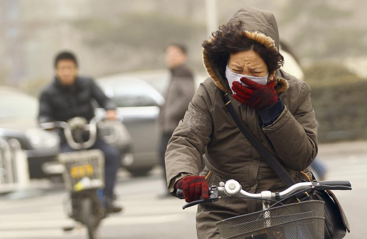 China Smog Beijing Shanghai Asia Mask