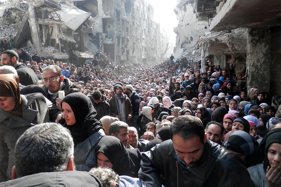 syria crowds