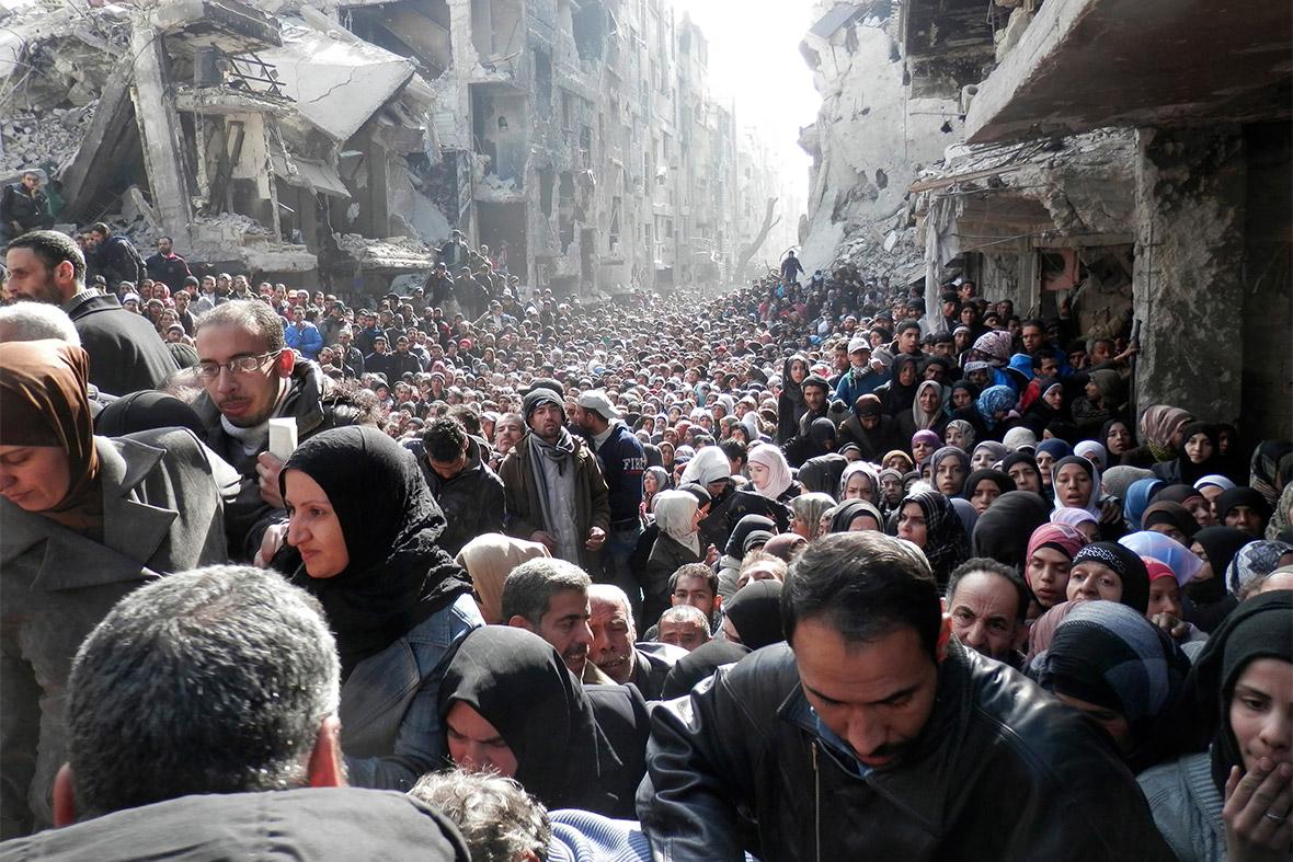syria crowds