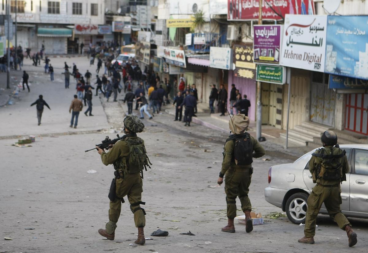 IDF Israel Palestine Palestinian Tear Gas Hebron West Bank Conflict Jew Arab