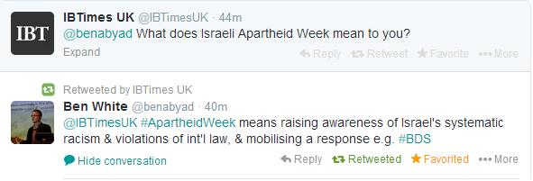 Ben White Israeli Apartheid Week