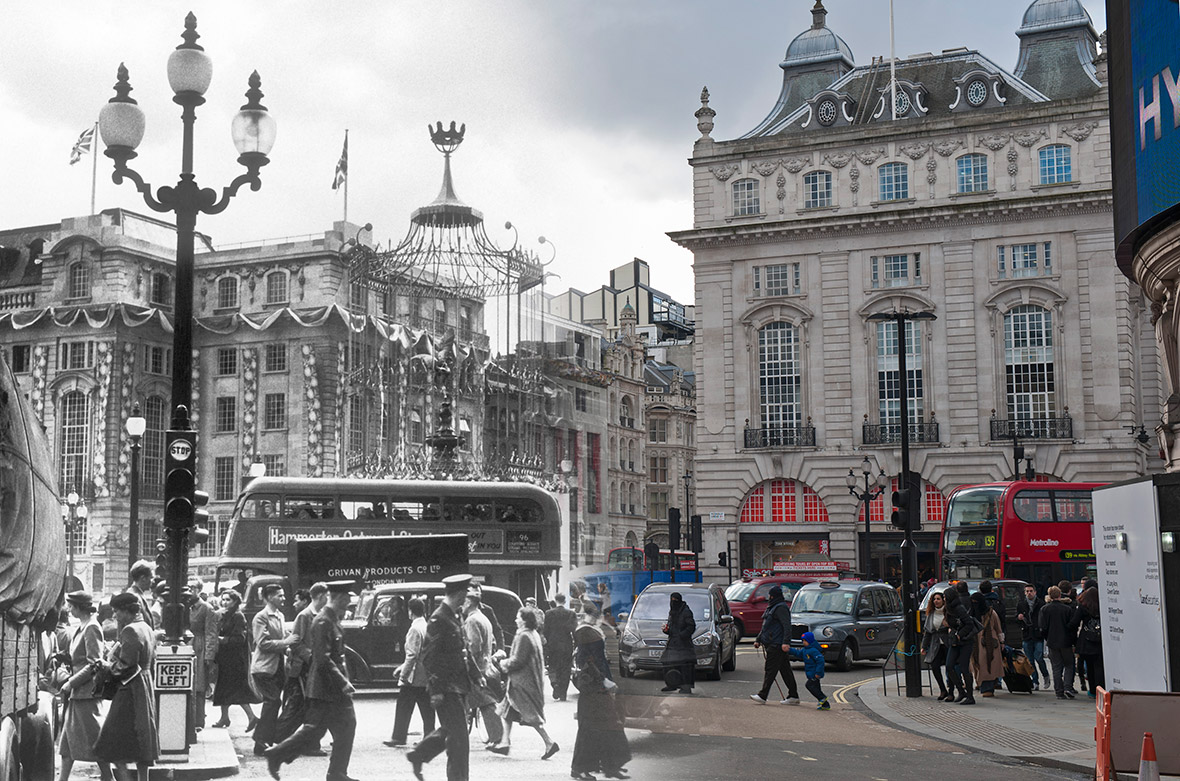 Piccadilly Circus; June 1953