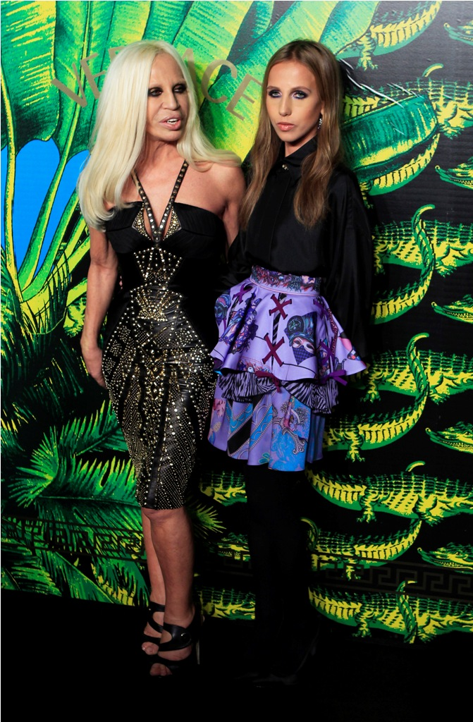 Donatella Versace and Allegra Versace