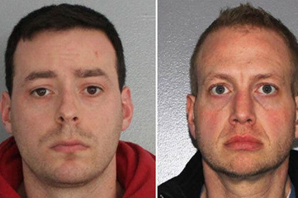 Reid Fontaine (left) and Michael Jones allegedly had sex with a cow which later died in a car crash in Hermiker, New York