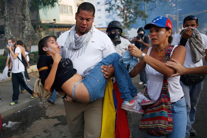 tear gas girl