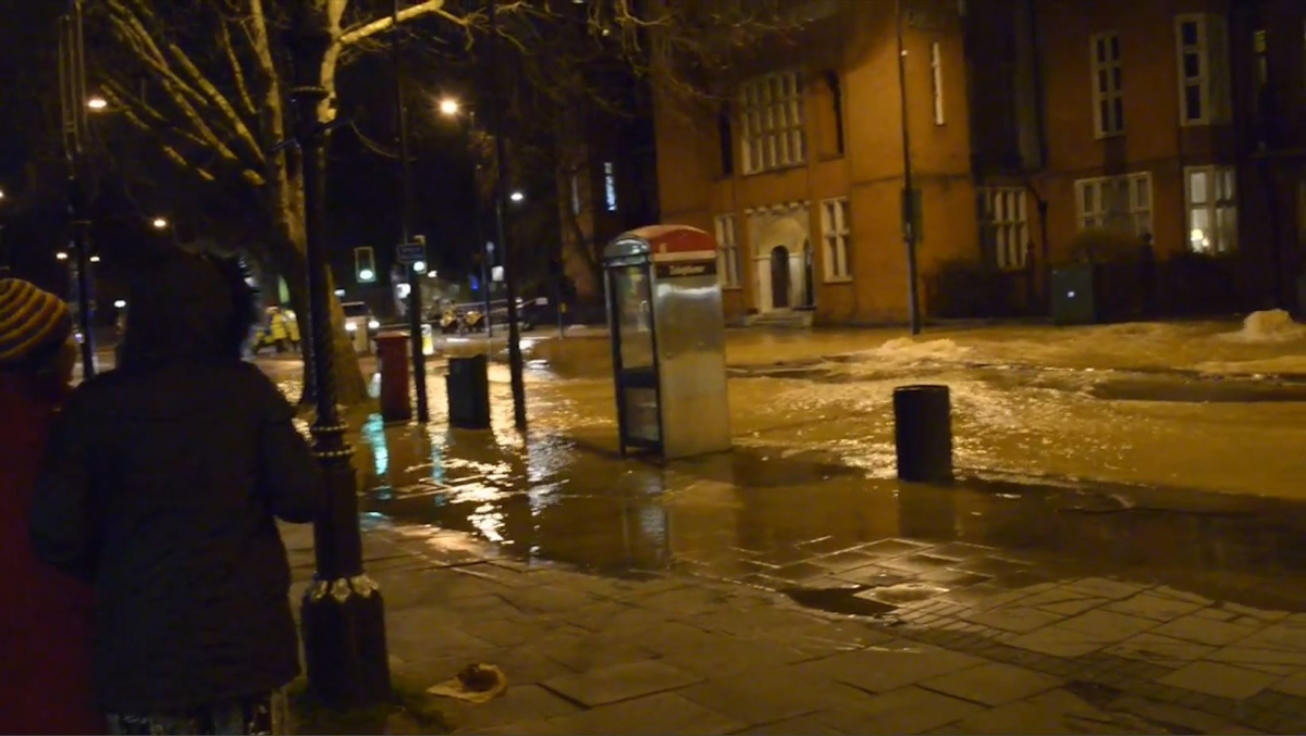 Burst Water Main Causes 'River of Poo' in South London