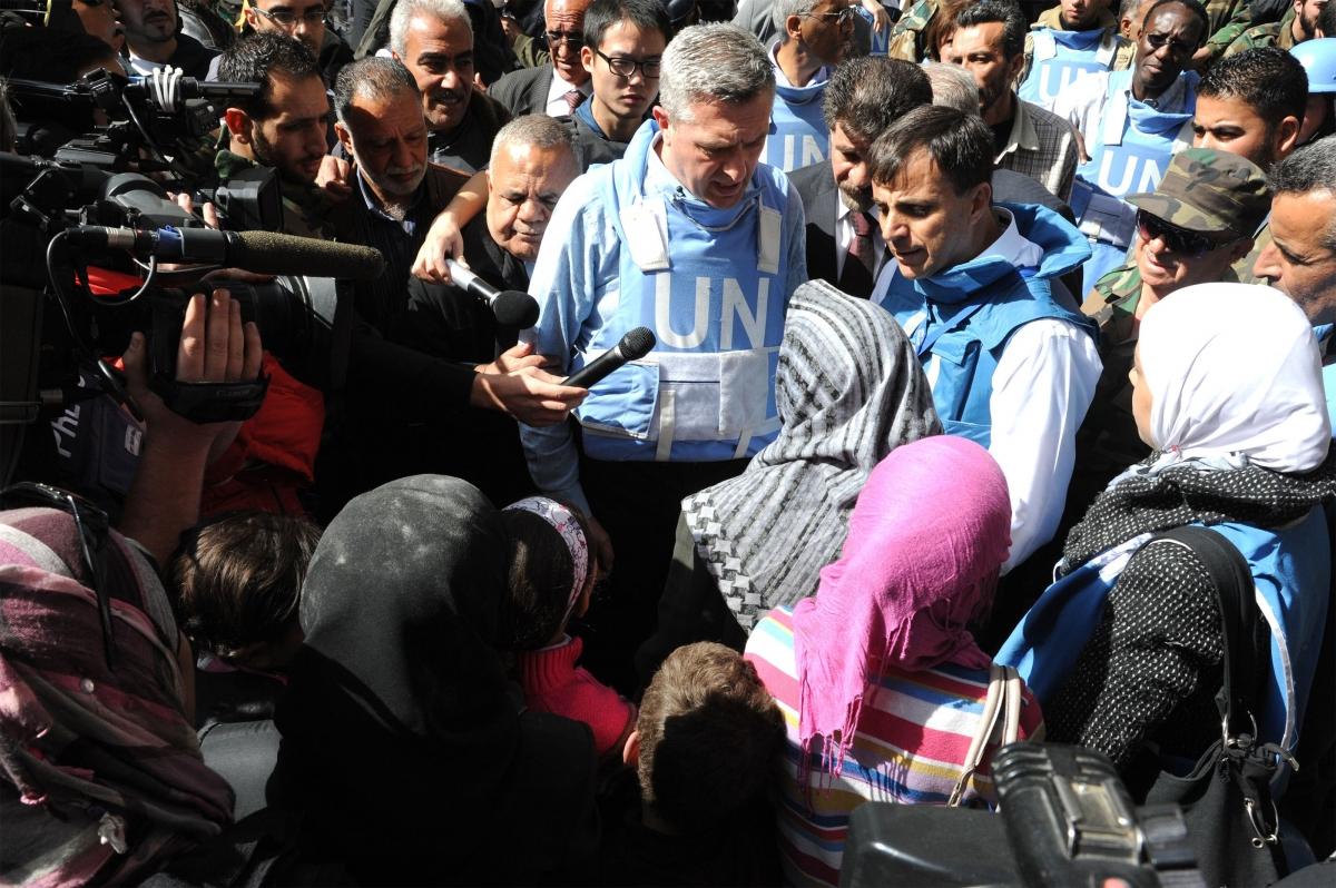 Grandi UN Chief Food Development Aid Syria Yarmouk Palestine