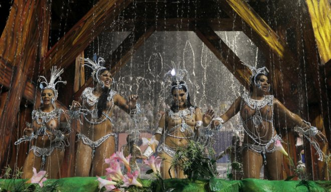 Revellers from the Vai Vai samba school take part in the first night of the Special Group category of the annual Carnival parade in Sao Paulo's Sambadrome March 1, 2014.