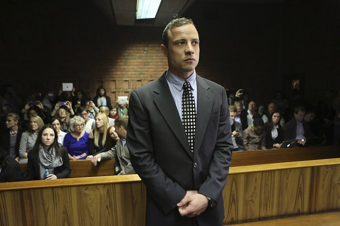 Oscar Pistorius undergoes trial in Pretoria accused of murdering his girlfriend Reeva Steenkamp.