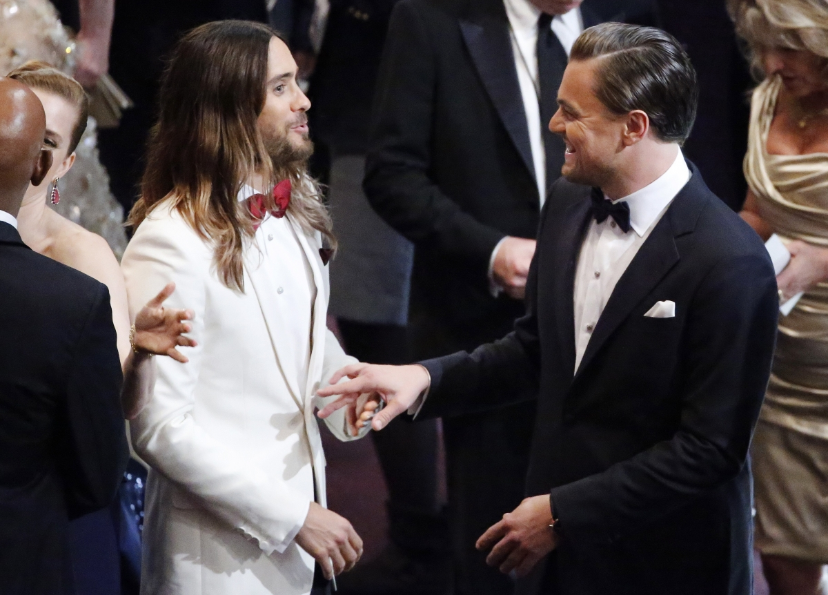 Jared Leto and Leonardo DiCaprio at Oscars