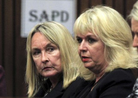 June Steenkamp arrives at court for the first day of the murder trial of Oscar Pistorius, who killed her daughter Reeva Steenkamp