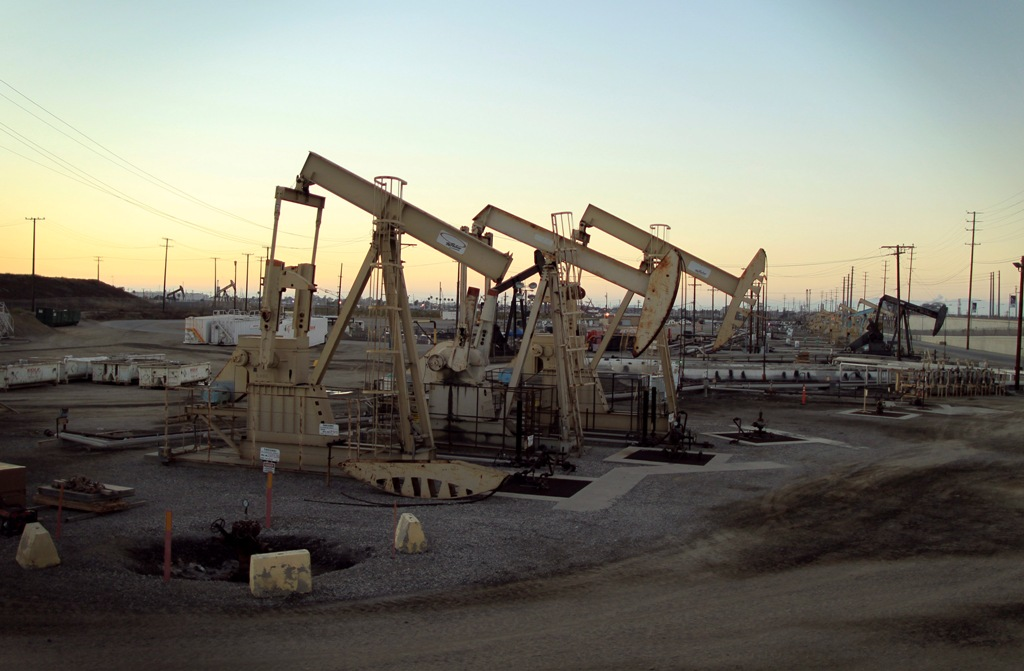 Oil Pumpjacks in California, US