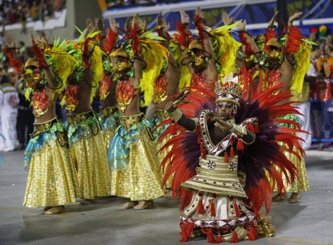 Revellers of the Salgueiro samba school participate in the annual Carnival parade in Rio de Janeiro's Sambadrome, March 3, 2014