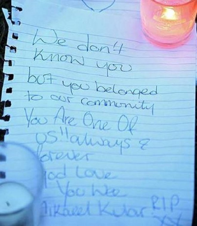 Tributes left after he was found in Fife
