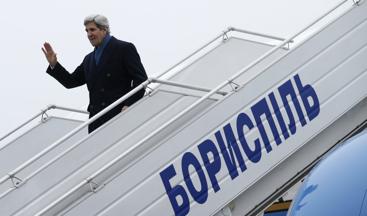 John Kerry Kiev Ukraine Russia Crimea Invasion War