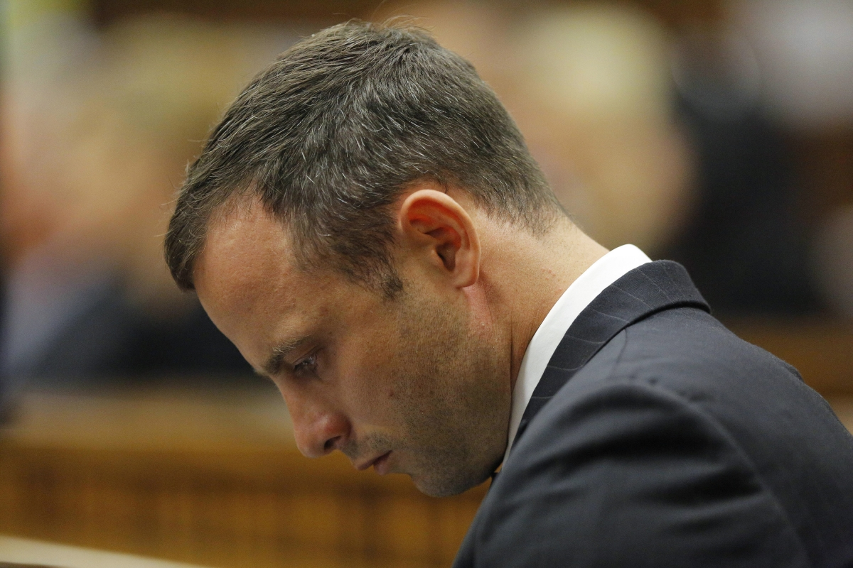 Oscar Pistorius Broke Down in Tears at hearing about injuries Reeva Steenkamp suffered when he blasted her