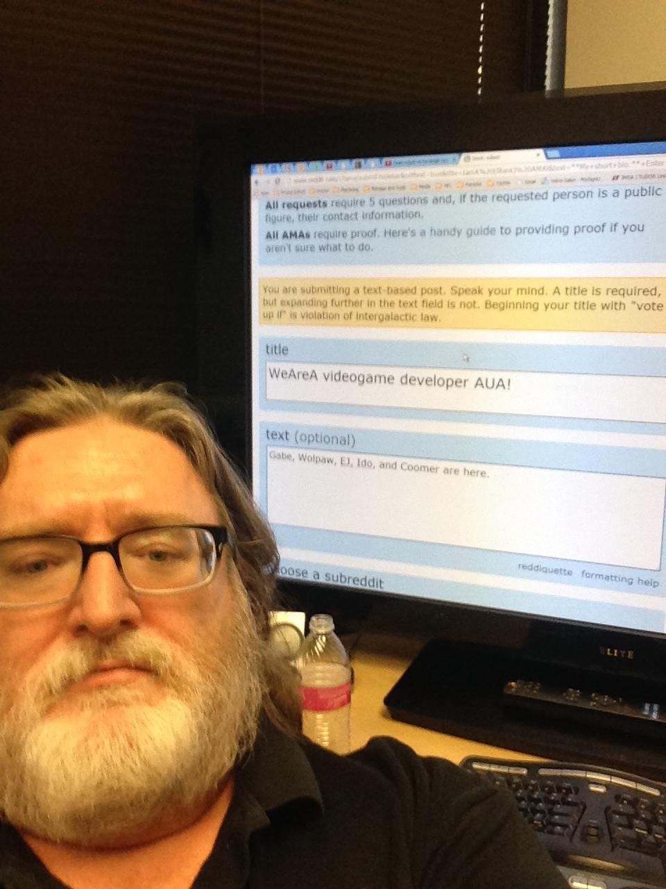 Gabe Newell Reddit Ama Selfie