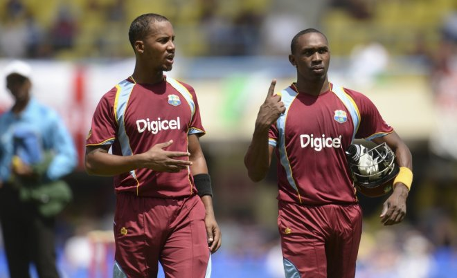 Lendl Simmons and Dwayne Bravo