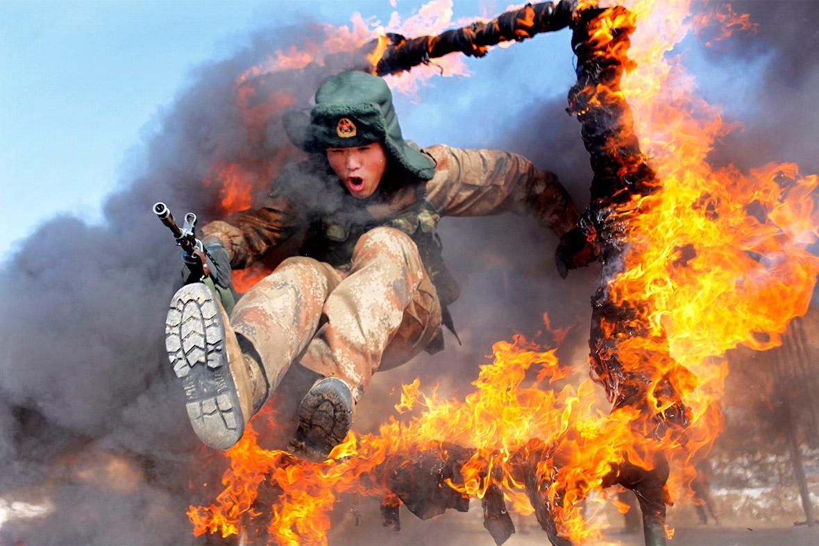 soldier fire