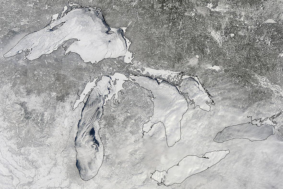 Great Lakes frozen