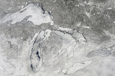 Great Lakes frozen