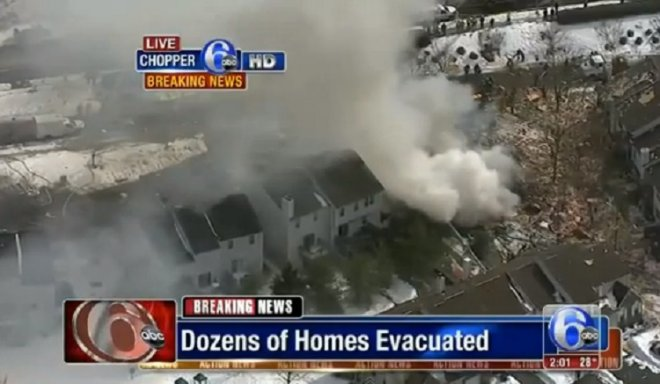 Gas explosion destroys homes in New Jersey