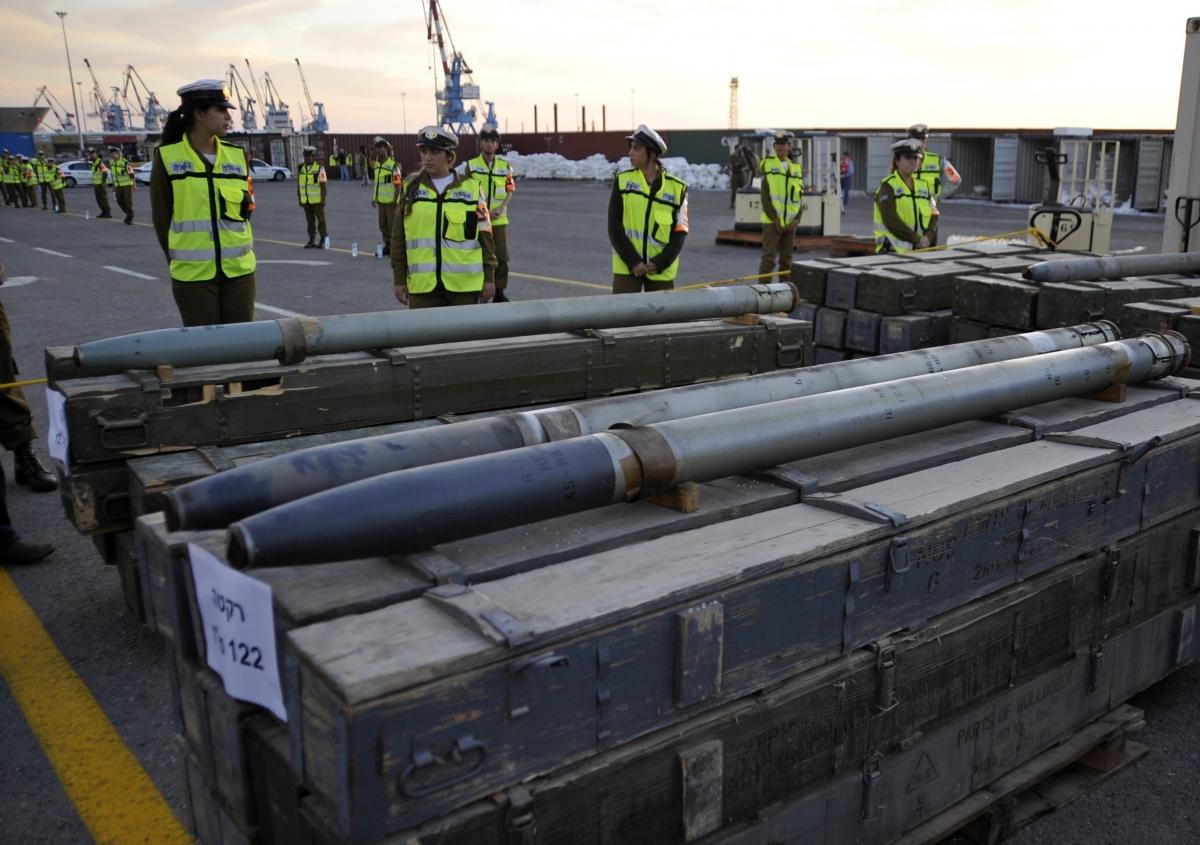 Israel Gaza Palestine Rocket Shipment Iran Syria Sudan Red Sea Seized