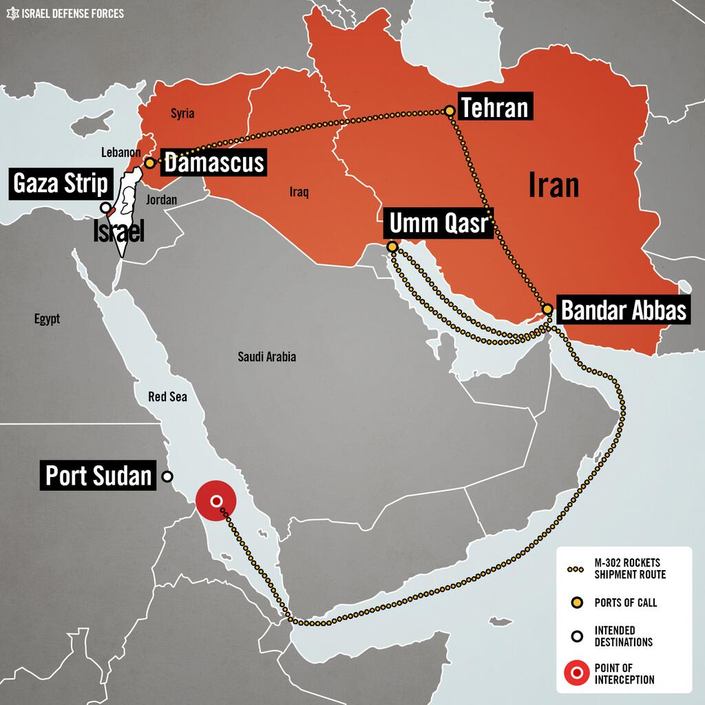 Israel Palestine Iran Syria Map Raid Red Sea