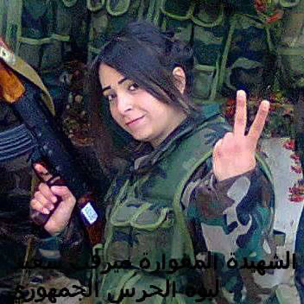 Syria female fighter