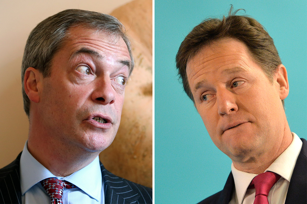 Nigel Farage nd Nick Clegg