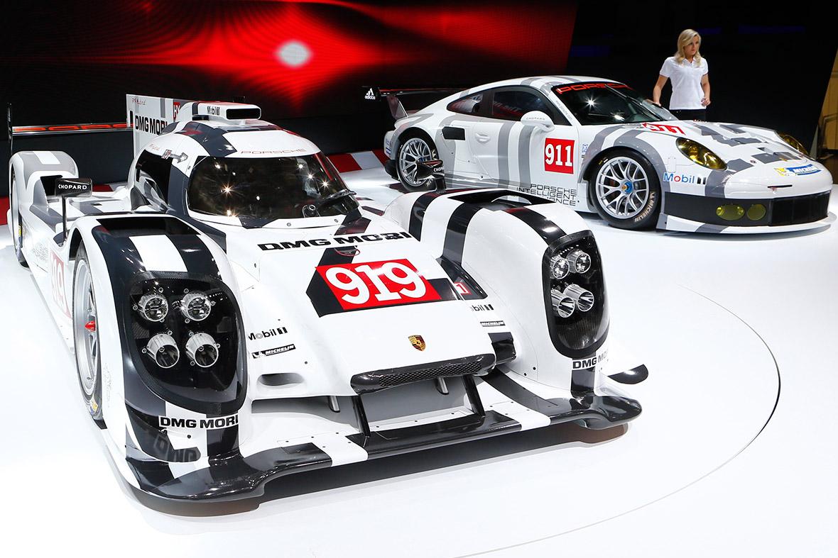 Porsche 919 Hybrid and Porsche 911 RSR