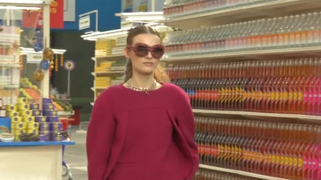 Supermarket Chic at Chanel for Paris Fashion Week