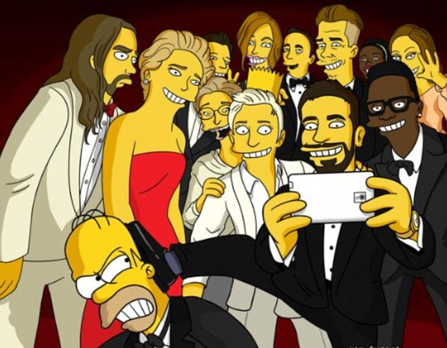 The Simpsons Selfie