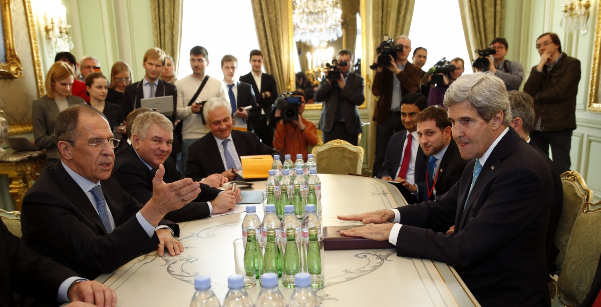 Russian Foreign Minister Sergei Lavrov and US Secretary of State John Kerry