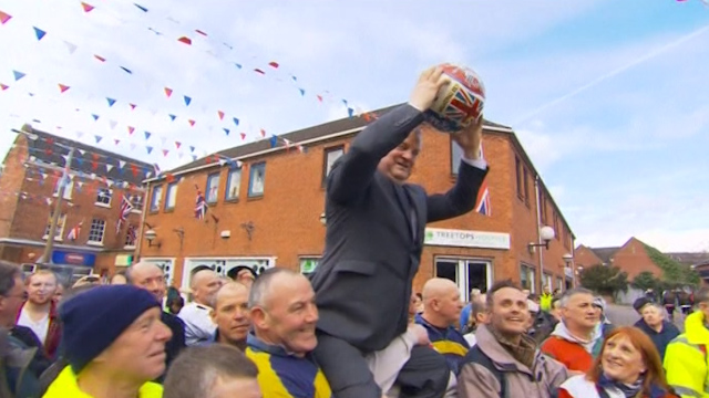 World's 'Maddest' Football Game Held in Derbyshire