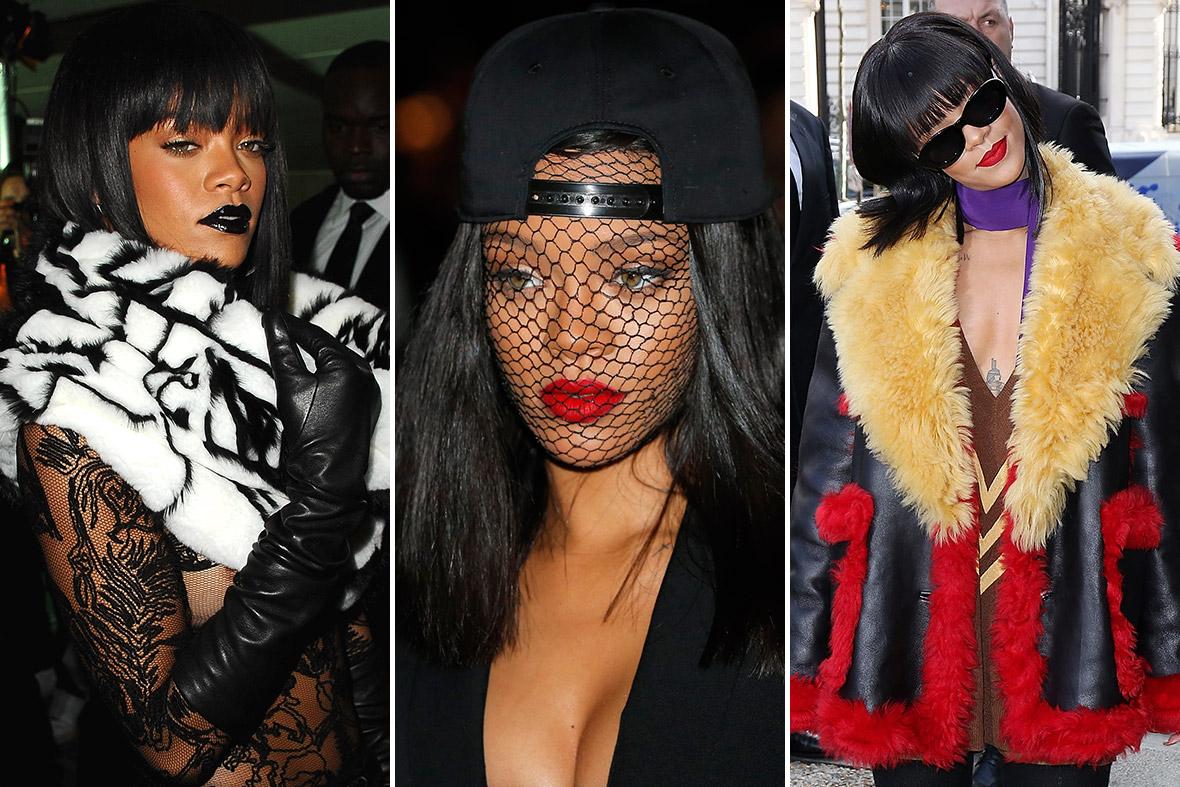 Rihanna at Paris Fashon Week