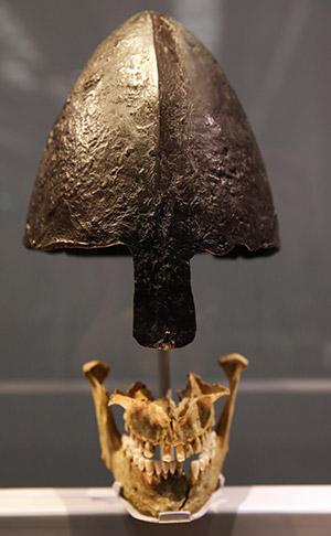 Viking skull and helmet