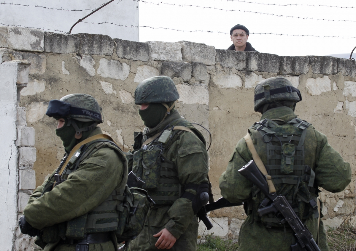 Russian troops in Crimea Ukraine