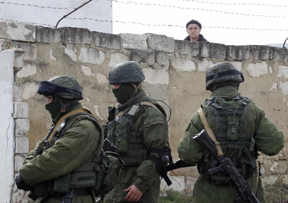 Russian troops in Crimea Ukraine