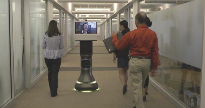 iRobot Ava 500 video collaboration robot - a surreal robot avatar of yourself