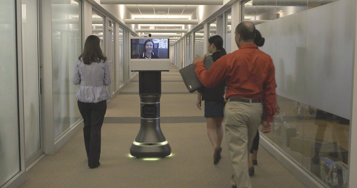 iRobot Ava 500 video collaboration robot - a surreal robot avatar of yourself