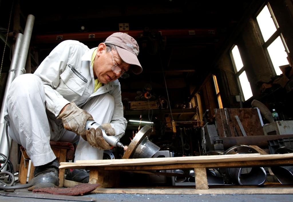 Factory Worker Tokyo Japan