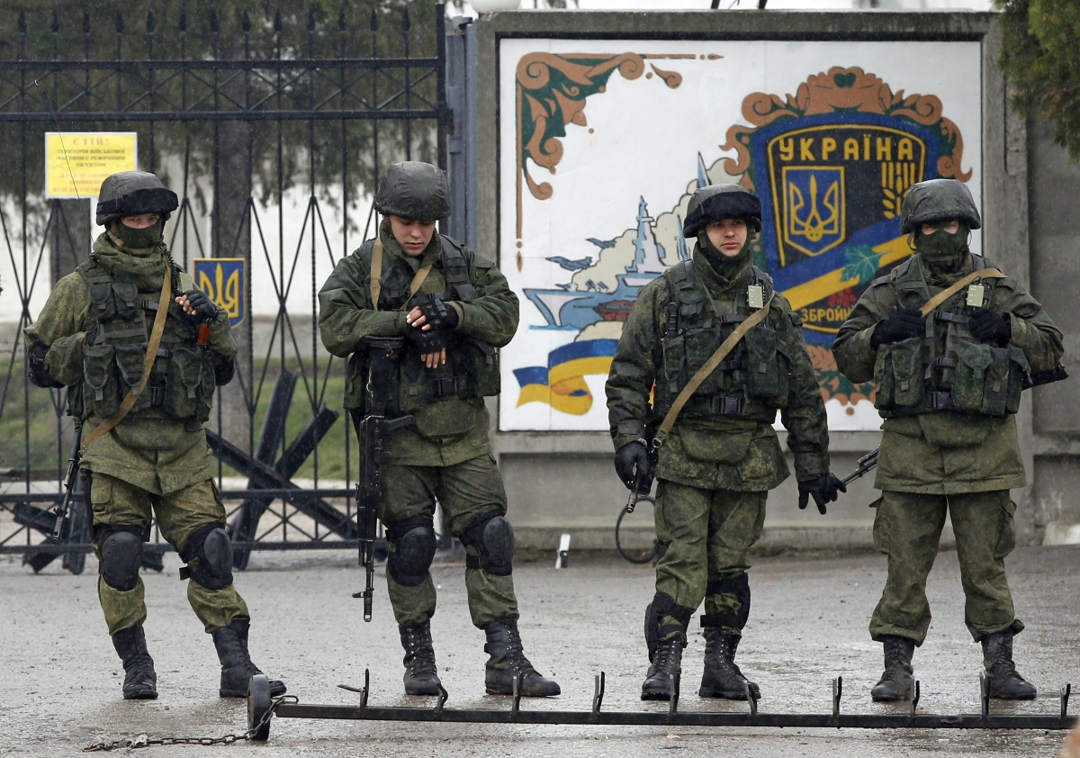 Russian troops in Crimea