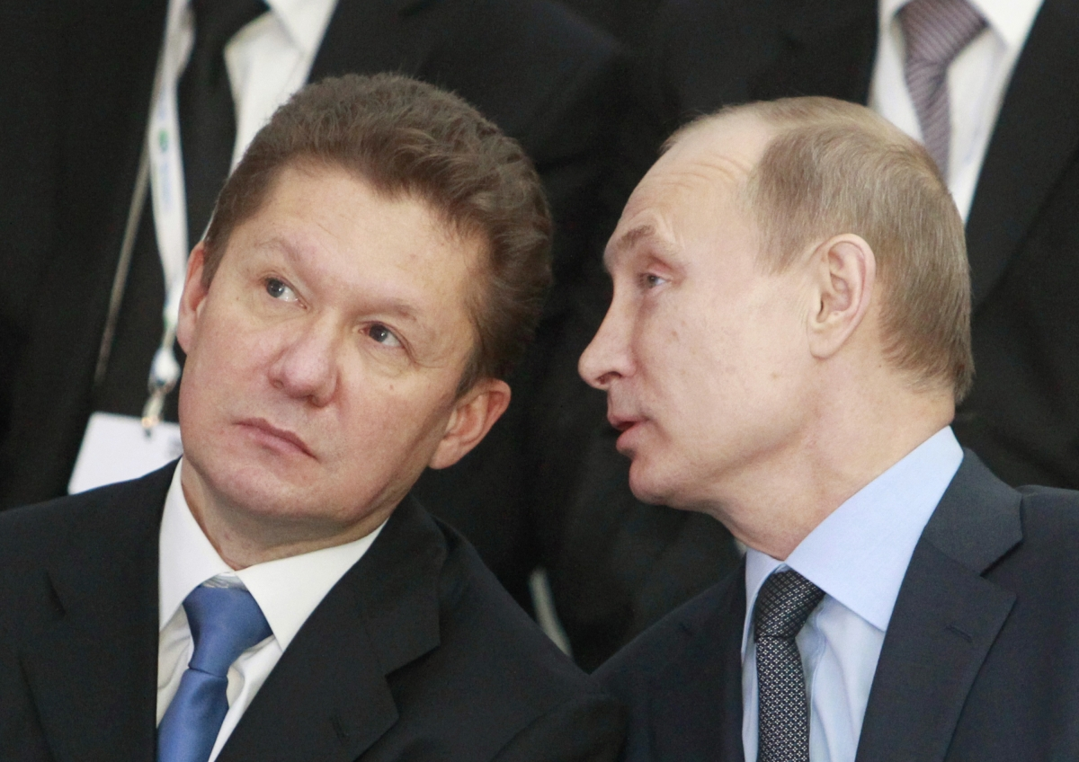 Alexey Miller and Vladimir Putin