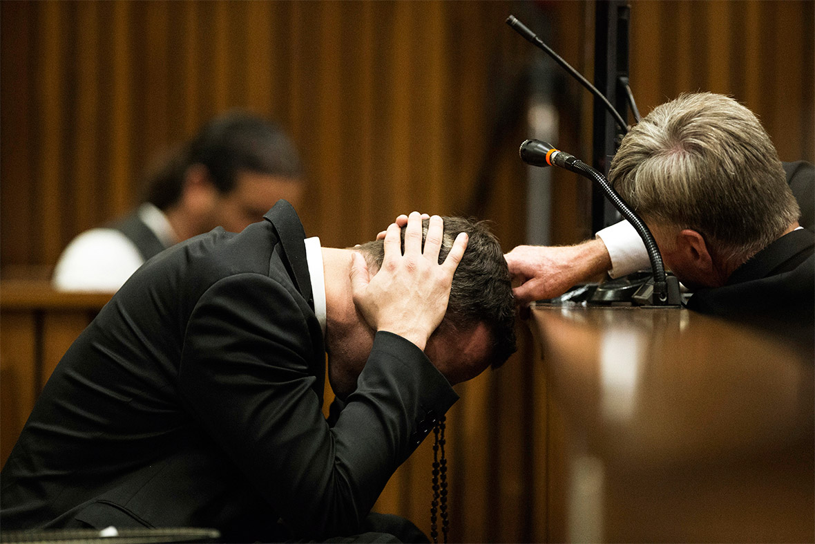 Oscar Pistorius recalled pulling a gun on three attackers during a street fight