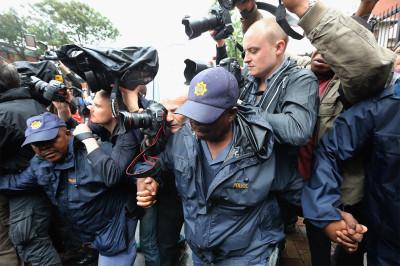police hold media