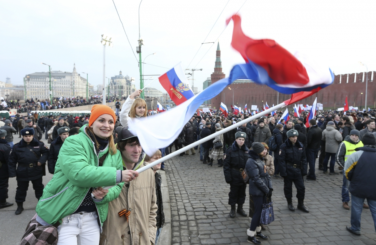 Moscow demonstration Crimea